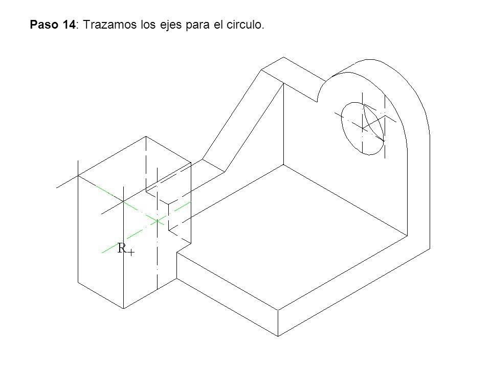 Paso 14: Trazamos los ejes para el circulo.