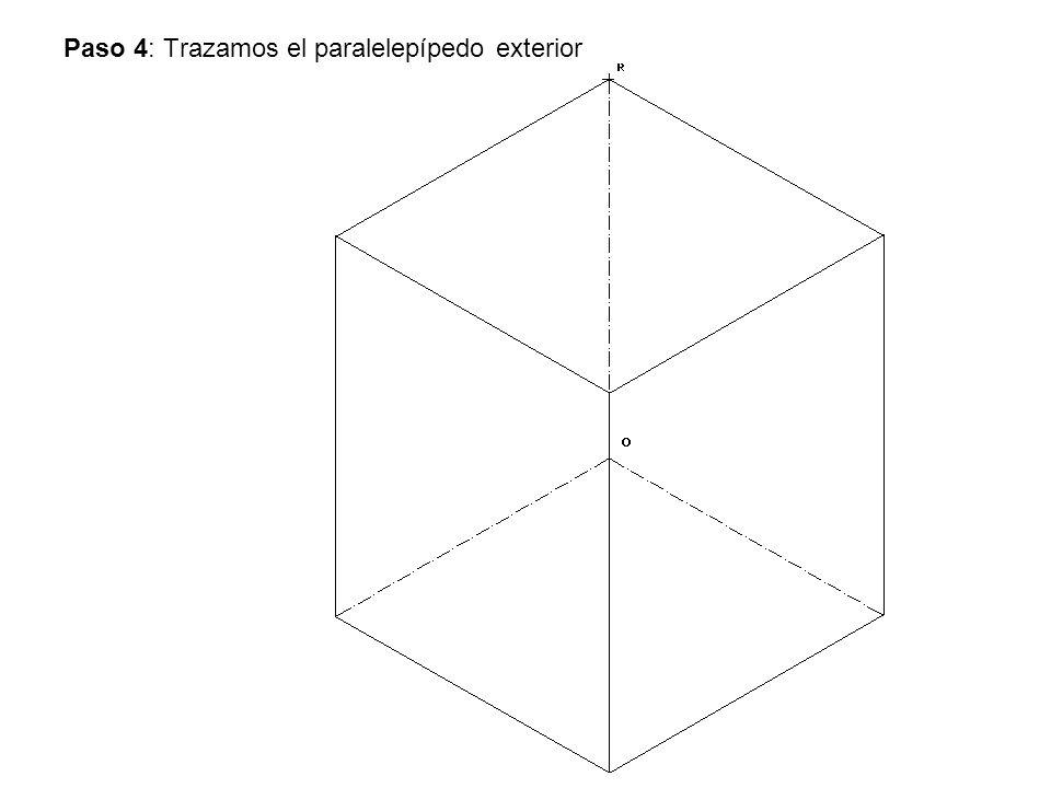 Paso 4: Trazamos el paralelepípedo exterior