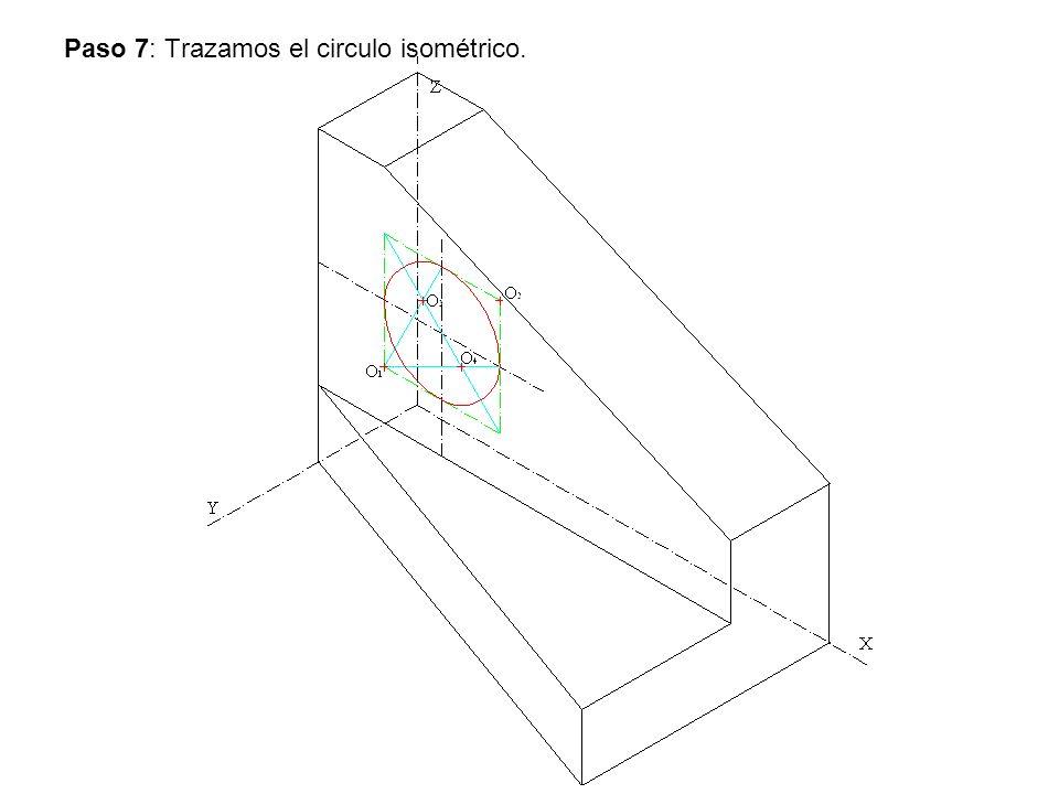 Paso 7: Trazamos el circulo isométrico.