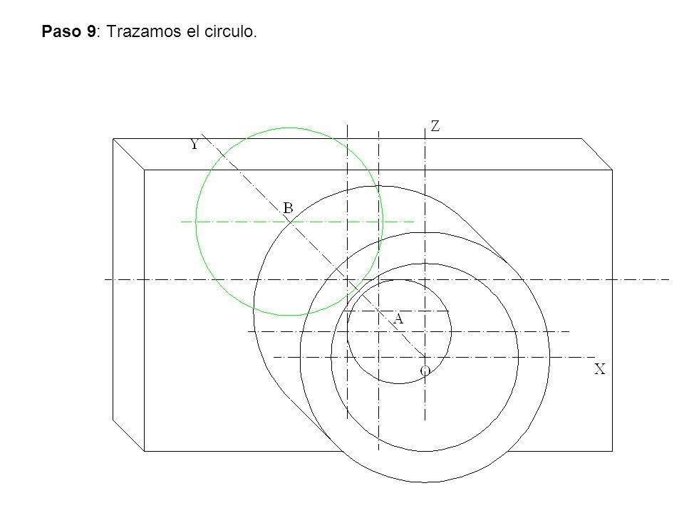 Paso 9: Trazamos el circulo.
