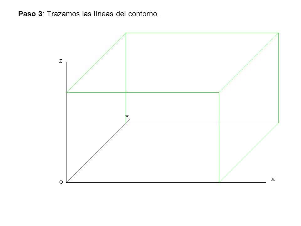Paso 3: Trazamos las líneas del contorno.