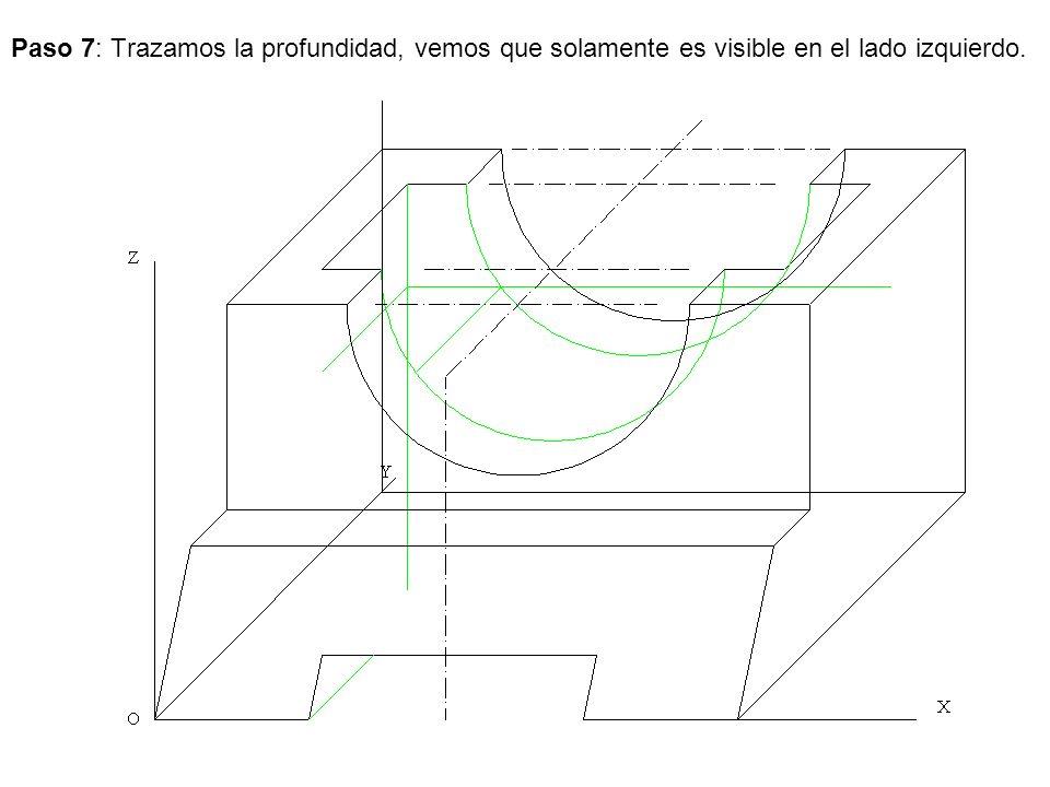 Paso 7: Trazamos la profundidad, vemos que solamente es visible en el lado izquierdo.