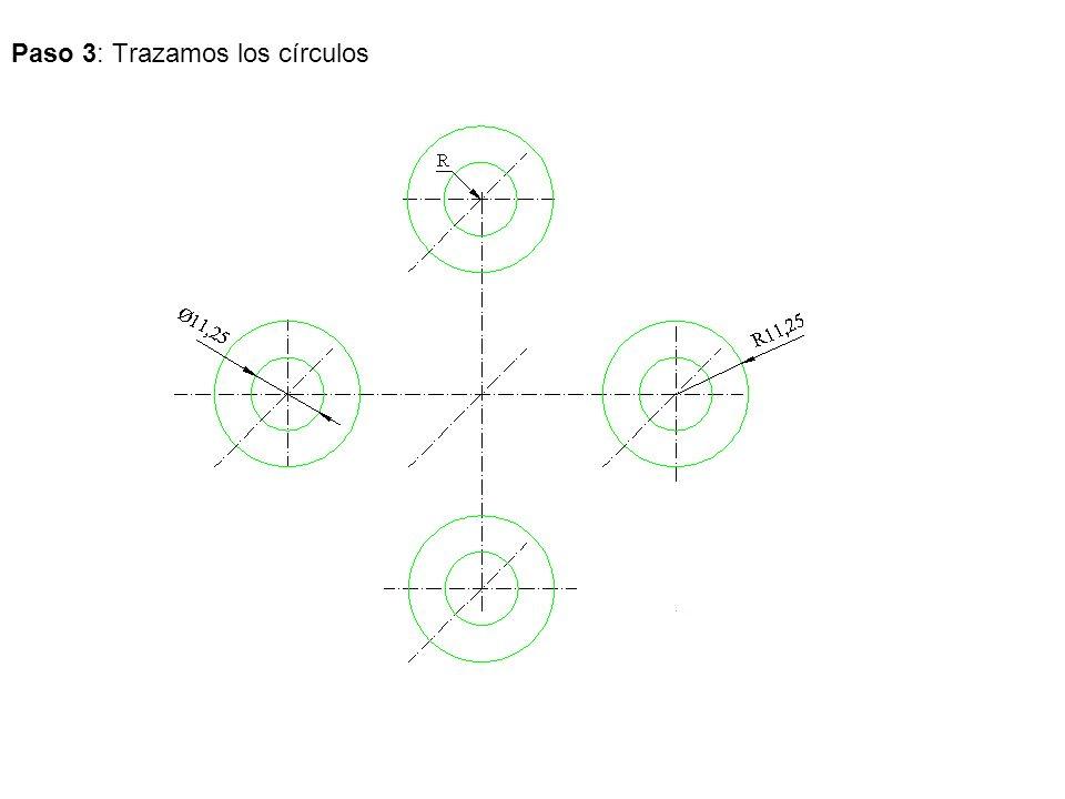 Paso 3: Trazamos los círculos