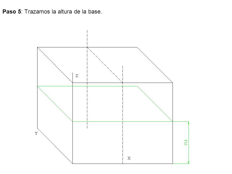 Paso 5: Trazamos la altura de la base.