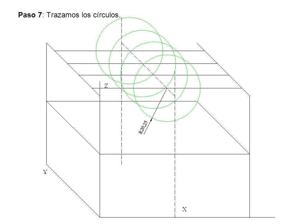 Paso 7: Trazamos los círculos.
