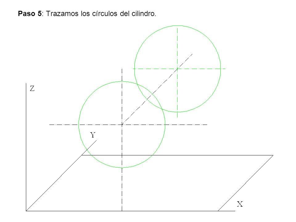 Paso 5: Trazamos los círculos del cilindro.
