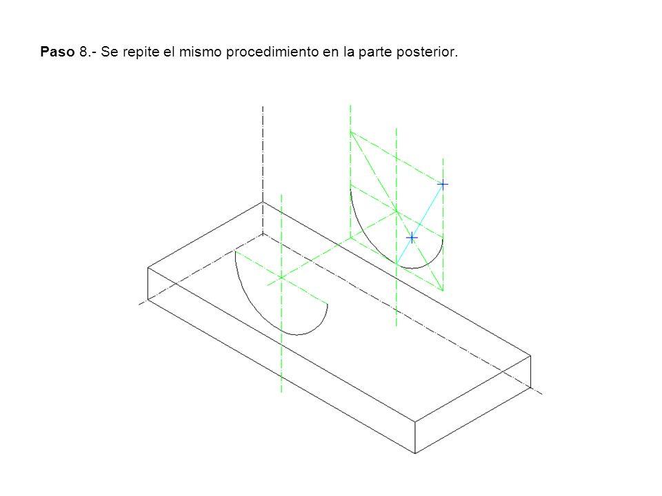 Paso 8.- Se repite el mismo procedimiento en la parte posterior.