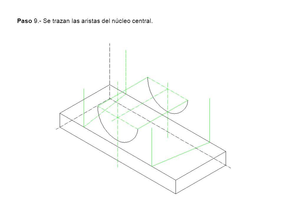 Paso 9.- Se trazan las aristas del núcleo central.