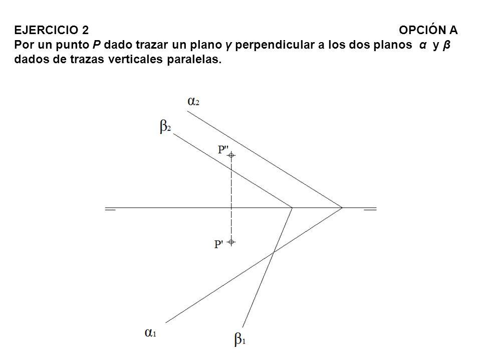 Paso 1 :.- Por el punto P trazamos las rectas r -r y s -s perpendiculares a los planos α1-α2 y β1-β2.