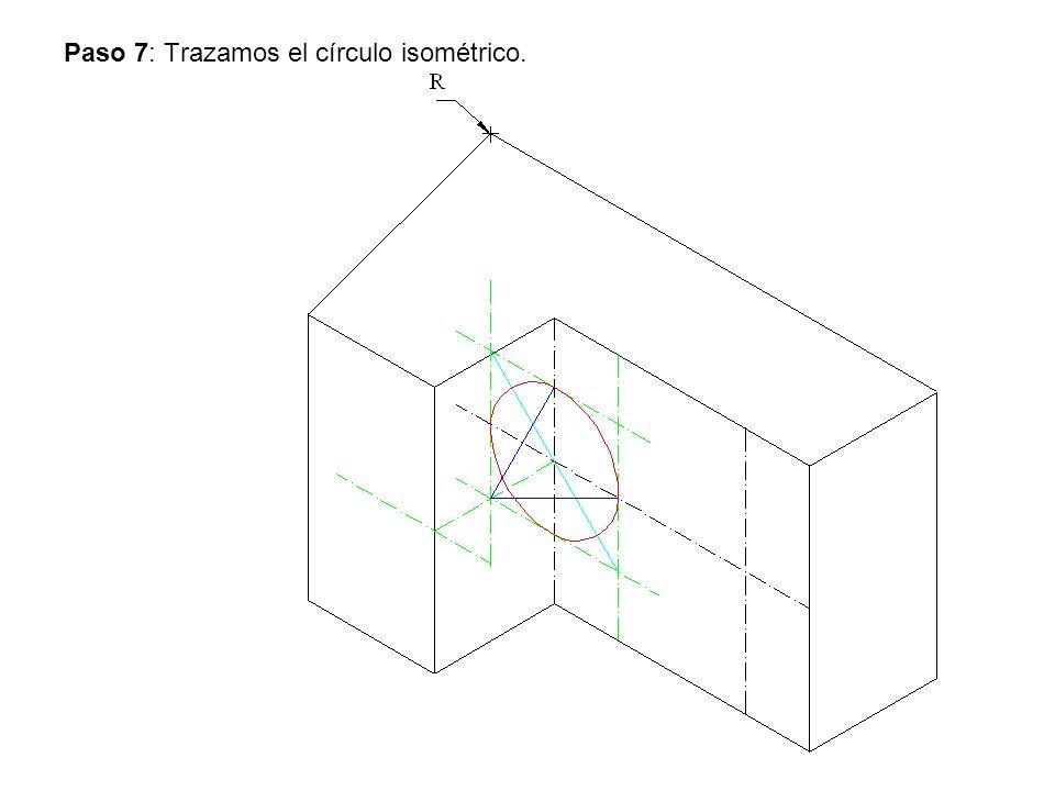 Paso 7: Trazamos el círculo isométrico.