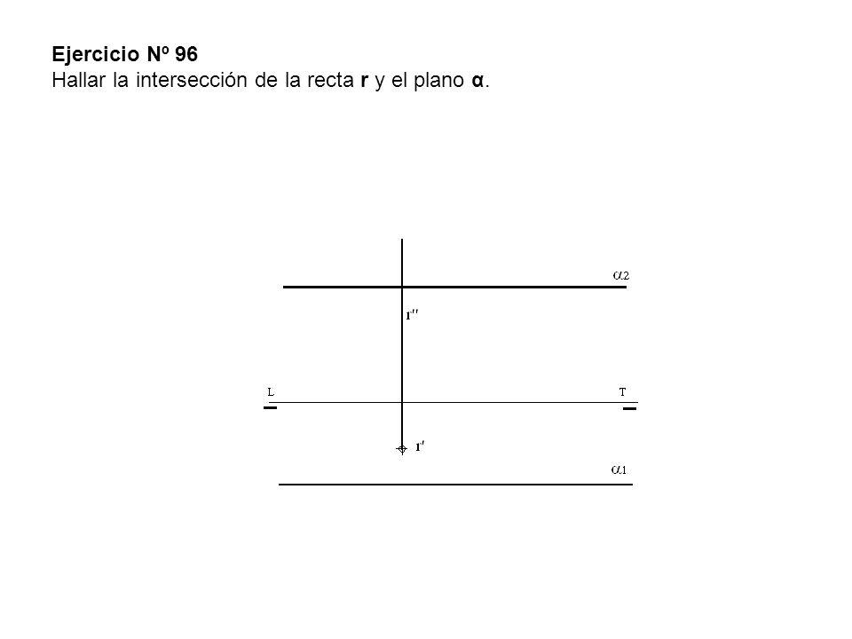 Ejercicio Nº 96 Hallar la intersección de la recta r y el plano α.