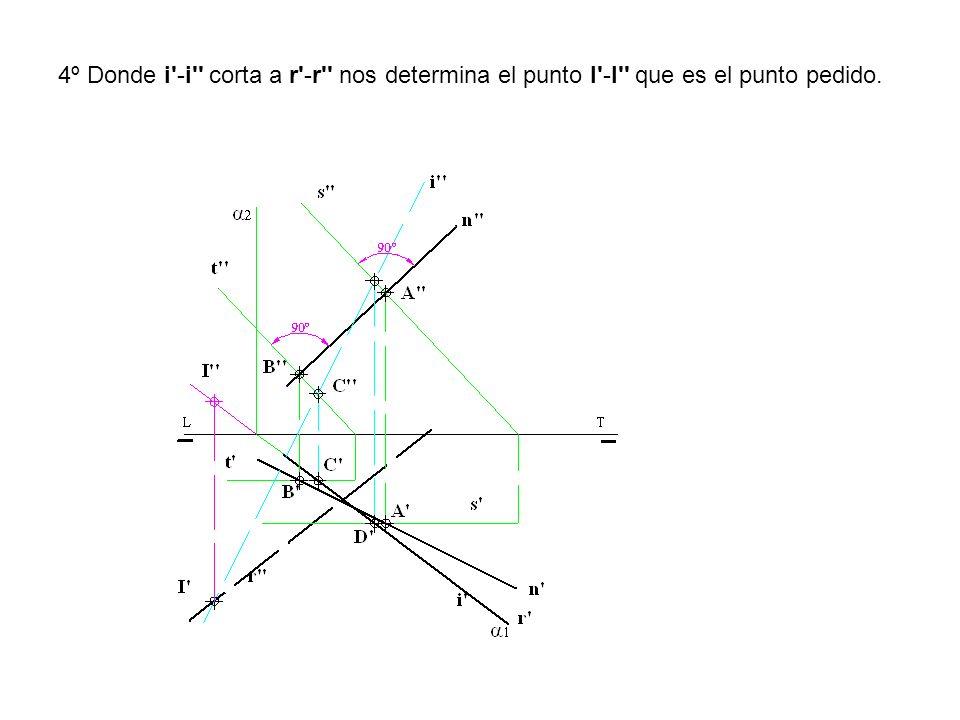 4º Donde i'-i'' corta a r'-r'' nos determina el punto I'-I'' que es el punto pedido.