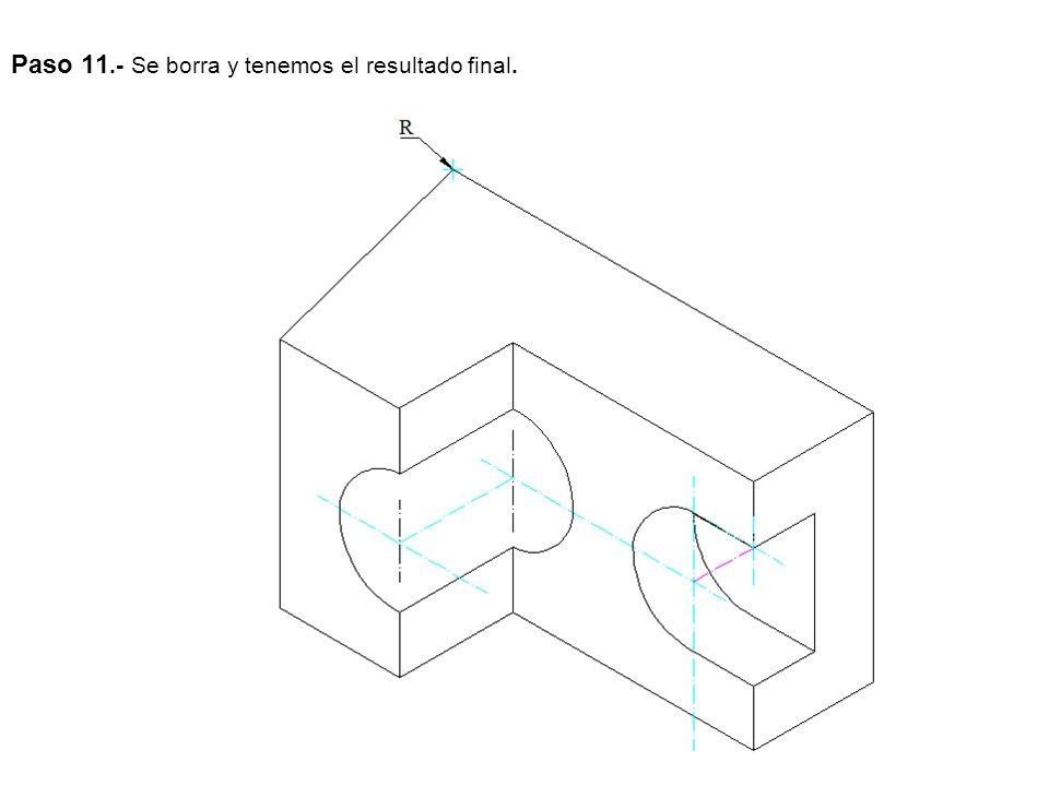 EJERCICIO 4OPCIÓN A Dibuja, a escala 1:5, las dos vistas que mejor definen la pieza.