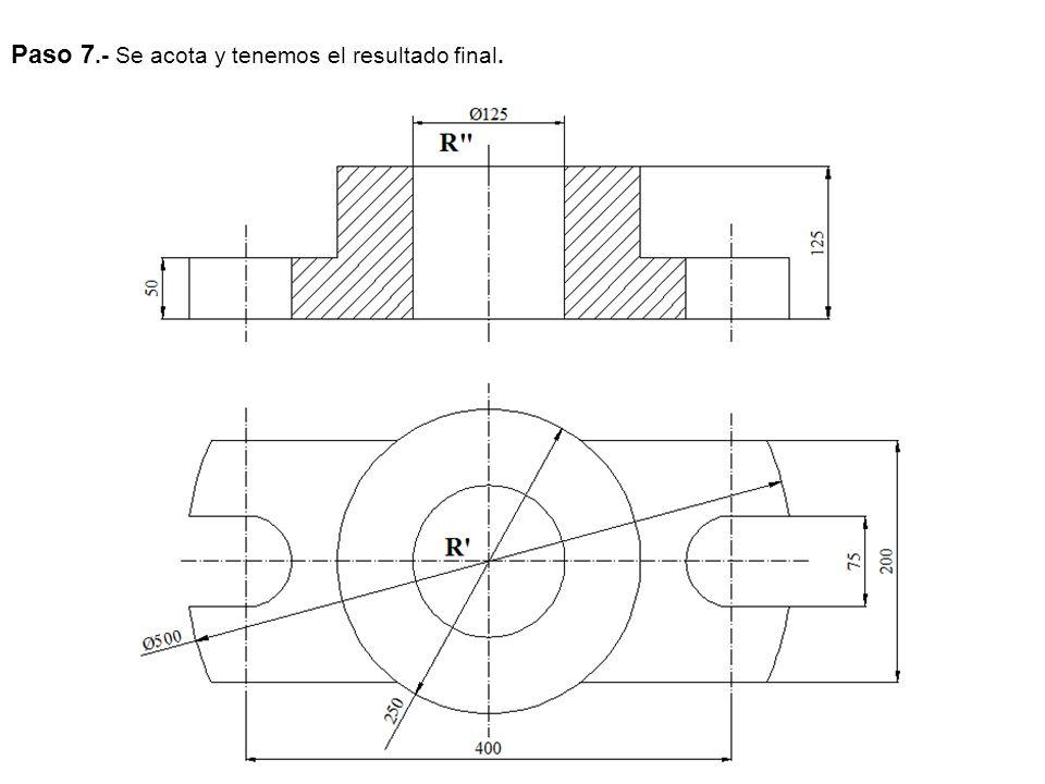 EJERCICIO 1OPCIÓN B Dibuja la pieza dada en la figura adjunta, indicando claramente los centros y puntos de tangencia de los diferentes arcos de enlace.