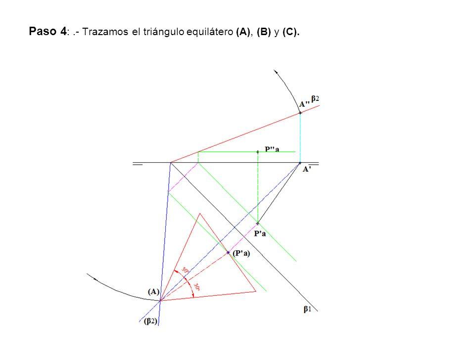 Paso 5:.- Por medio de la afinidad obtenemos B y C.