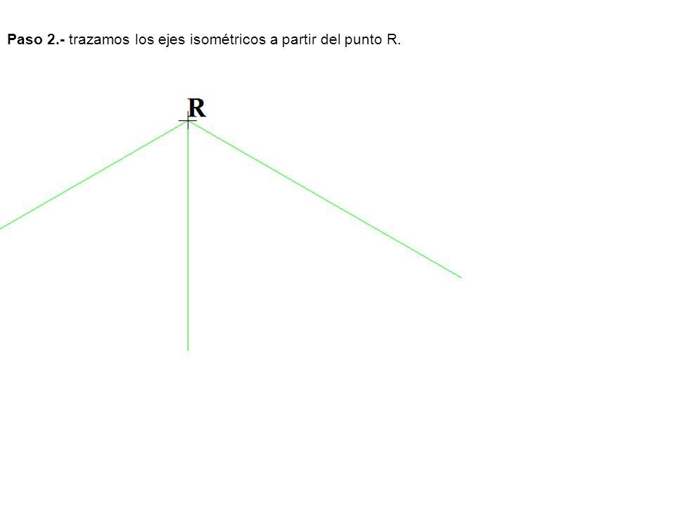 Paso 3.- Trazamos el prisma que contiene a la pieza con las medidas dadas.
