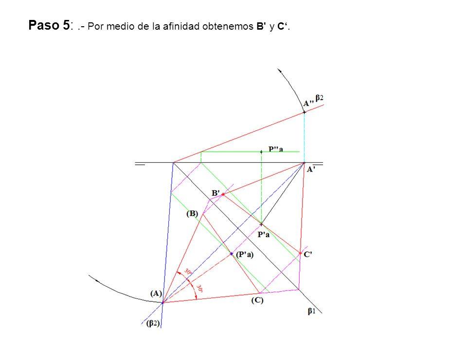 Paso 5:.- Por medio de la afinidad obtenemos B' y C.