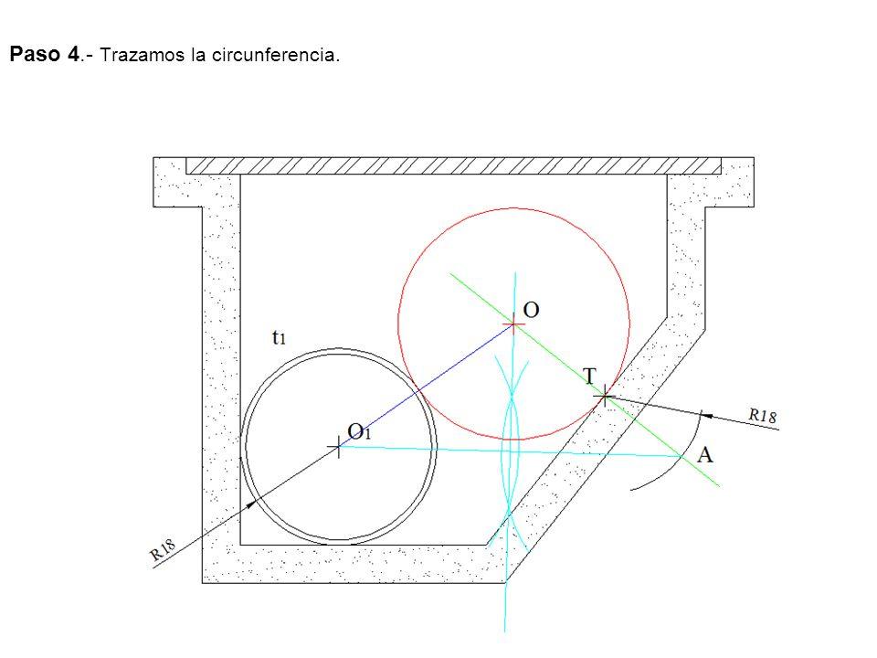Paso 4.- Trazamos la circunferencia.