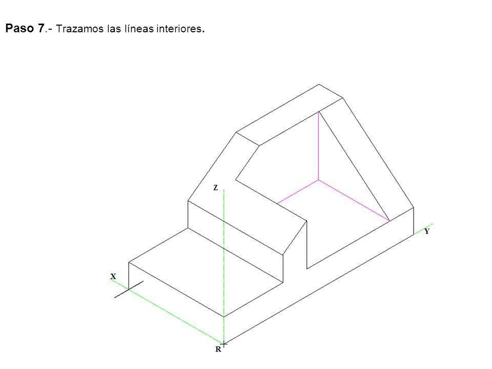 Paso 7.- Trazamos las líneas interiores.