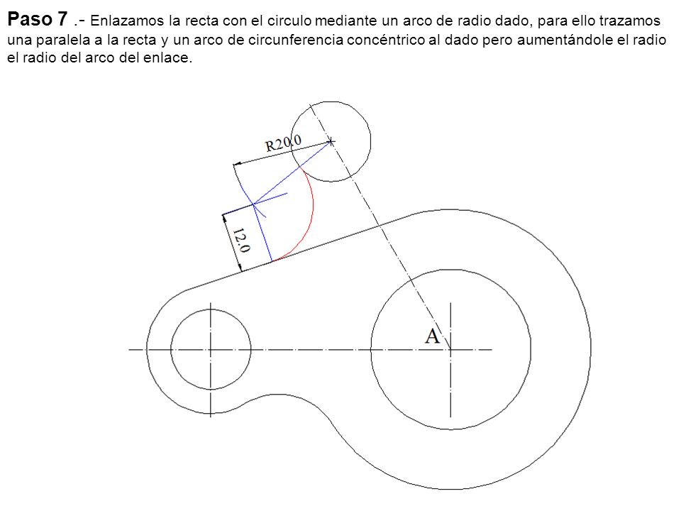 Paso 7.- Trazamos las tangentes al cilindro.