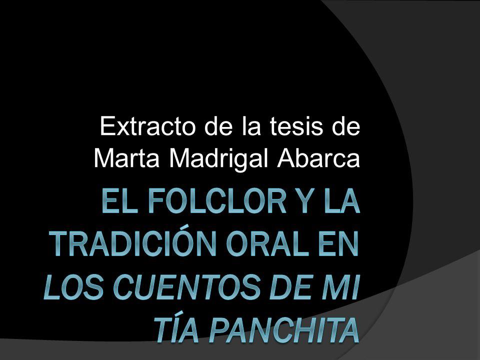 Extracto de la tesis de Marta Madrigal Abarca