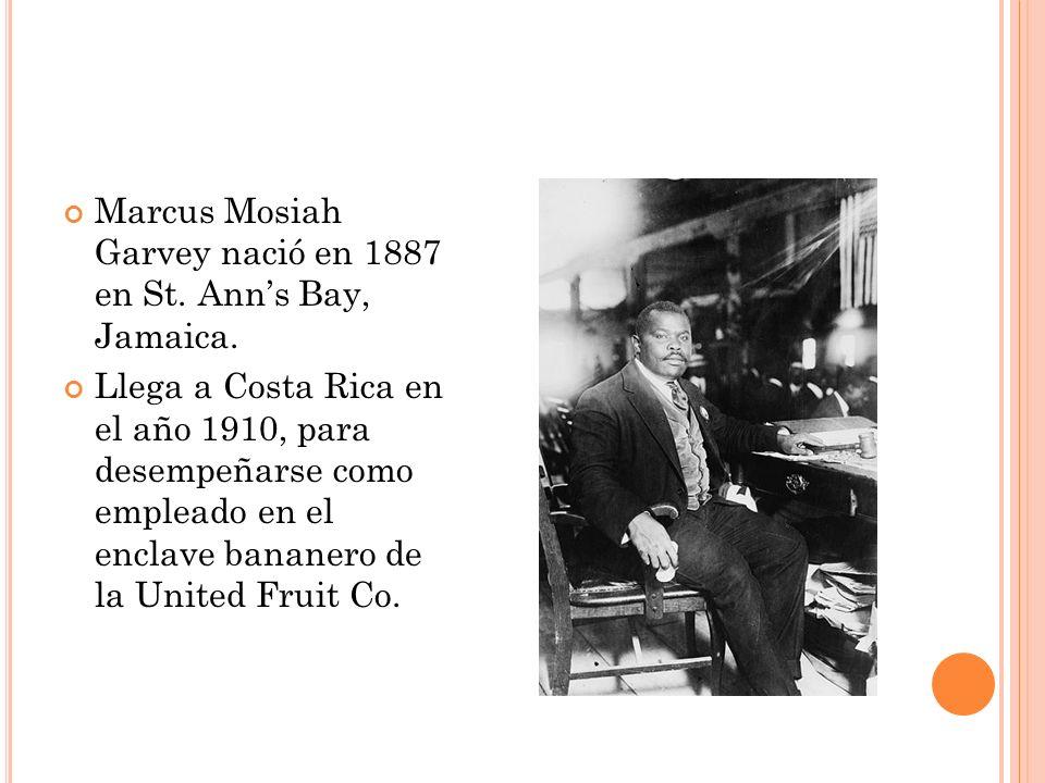 Entre 1912 y 1914 vivió por temporadas tanto en Costa Rica como en Panamá y coordinó la publicación de un periódico que problematizaba y concientizaba a la población negra sobre las injusticias que enfrentaban.