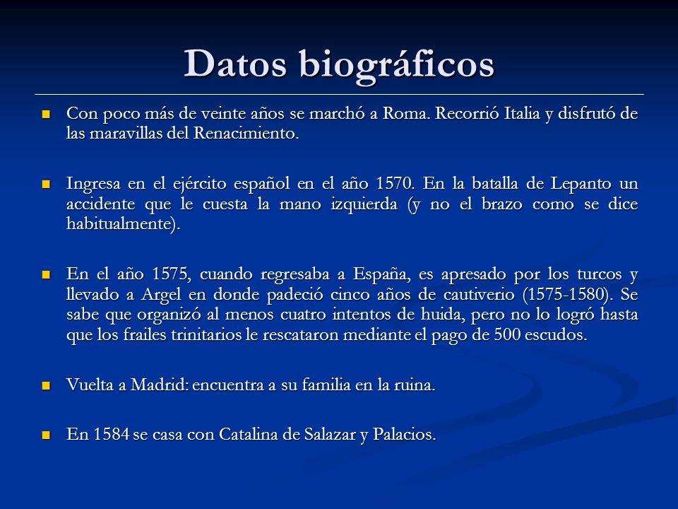Datos biográficos Con poco más de veinte años se marchó a Roma.