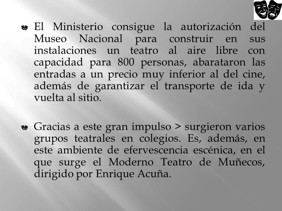 El Ministerio consigue la autorización del Museo Nacional para construir en sus instalaciones un teatro al aire libre con capacidad para 800 personas,