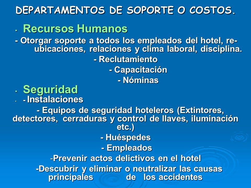 Recursos Humanos Recursos Humanos - Otorgar soporte a todos los empleados del hotel, re- ubicaciones, relaciones y clima laboral, disciplina. - Otorga