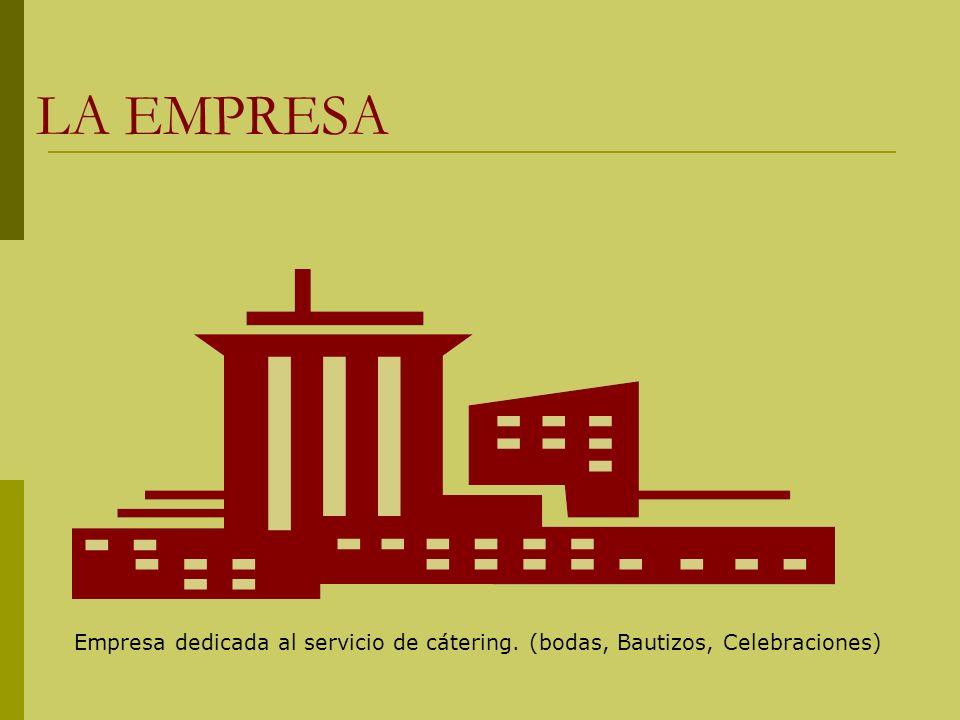 LA EMPRESA Empresa dedicada al servicio de cátering. (bodas, Bautizos, Celebraciones)