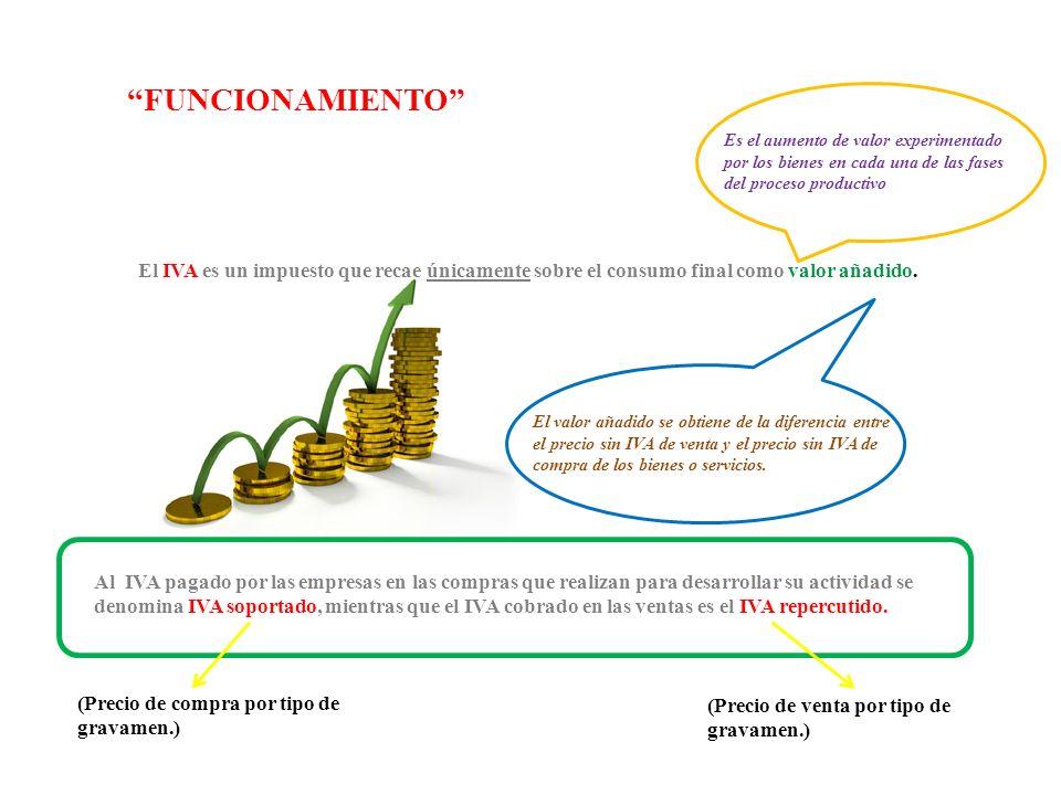 El IVA es un impuesto que recae únicamente sobre el consumo final como valor añadido.