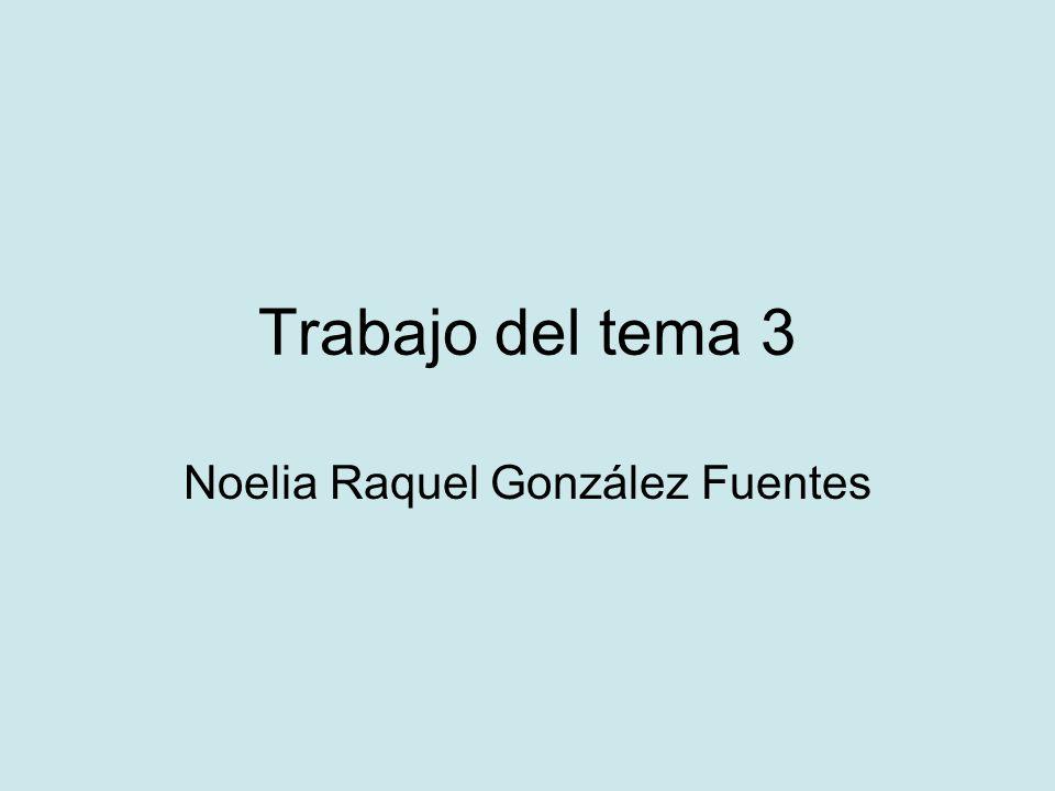 Trabajo del tema 3 Noelia Raquel González Fuentes
