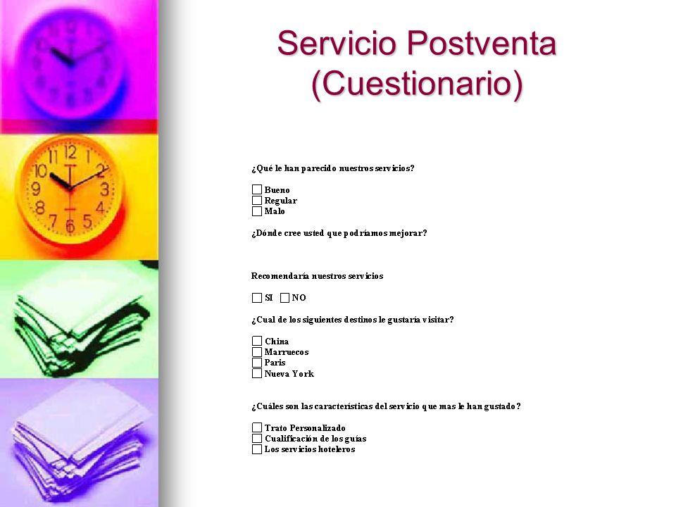 Servicio Postventa (Cuestionario)