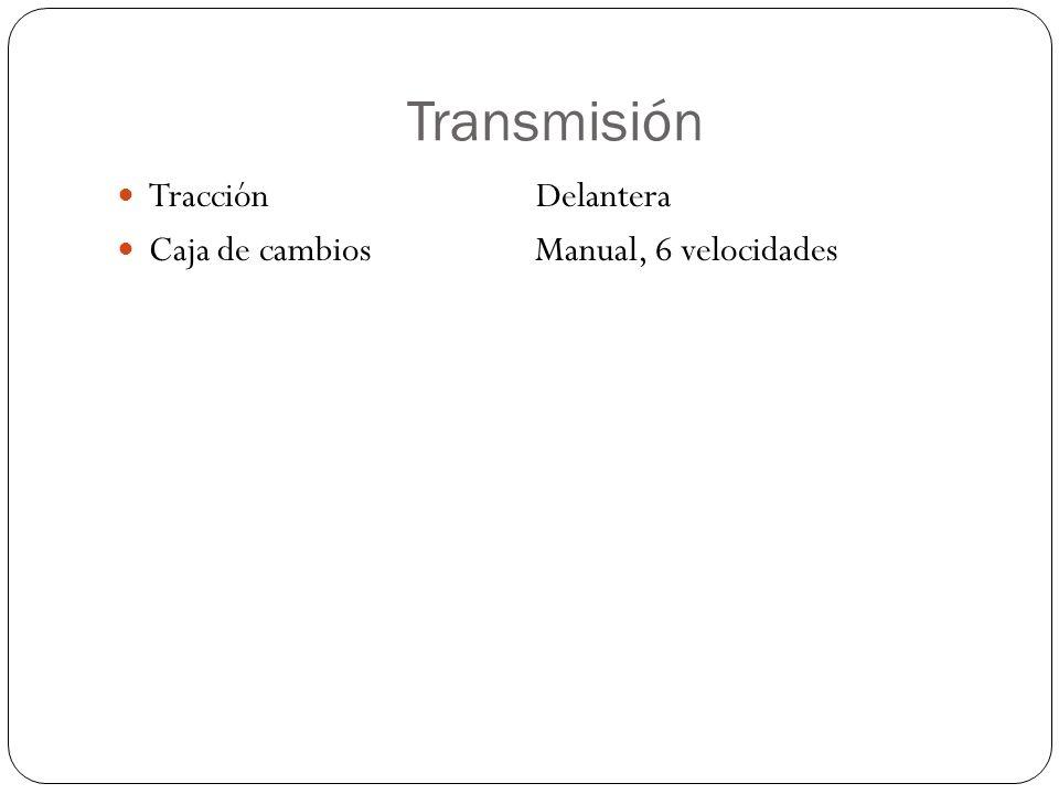Transmisión Tracción Delantera Caja de cambios Manual, 6 velocidades