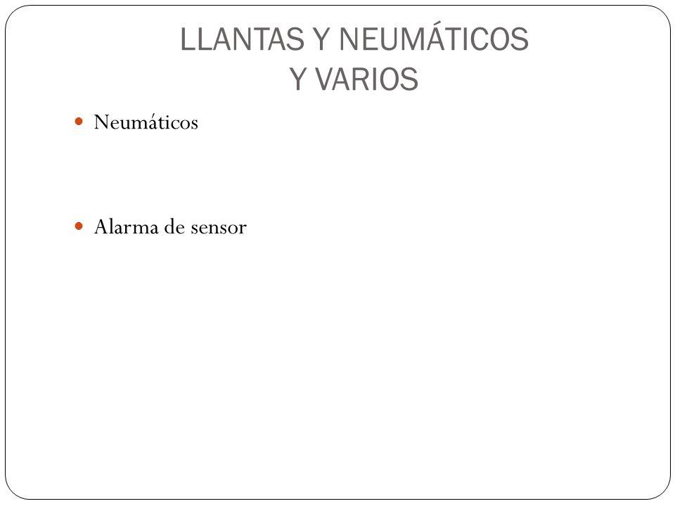 LLANTAS Y NEUMÁTICOS Y VARIOS Neumáticos Alarma de sensor