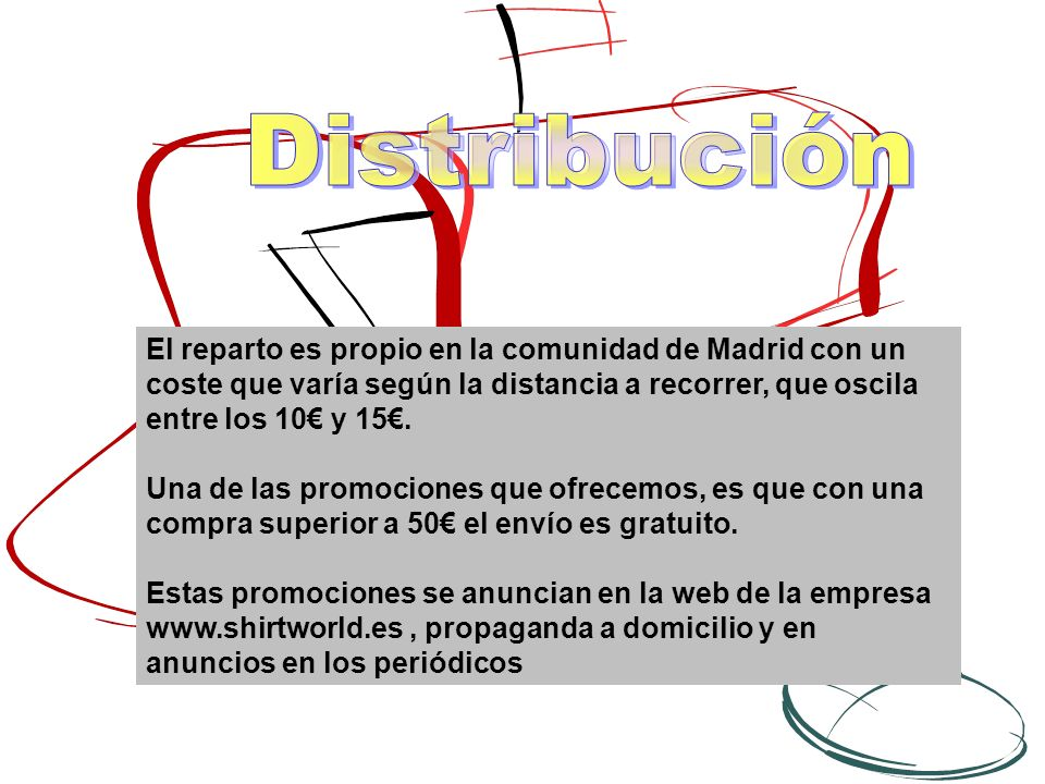 El reparto es propio en la comunidad de Madrid con un coste que varía según la distancia a recorrer, que oscila entre los 10 y 15.