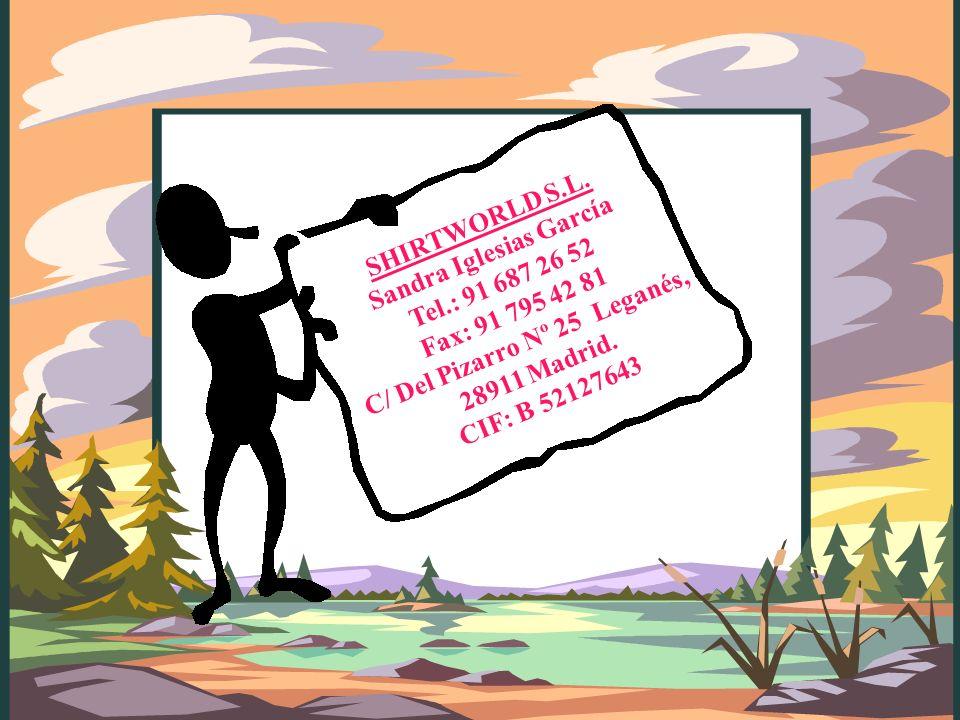 Plan de fidelización : Ofrecemos cupones descuento al efectuar su primera compra, estos descuentos se mandarán por correo ordinario, correo electrónico y se le informará en la tienda de las condiciones del ticket regalo.