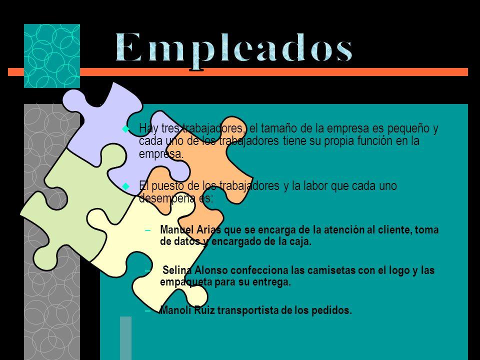 Hay tres trabajadores, el tamaño de la empresa es pequeño y cada uno de los trabajadores tiene su propia función en la empresa.