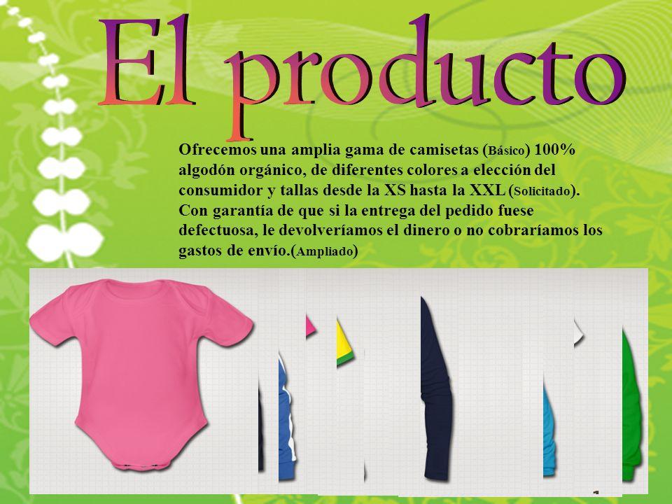 Ofrecemos una amplia gama de camisetas ( Básico ) 100% algodón orgánico, de diferentes colores a elección del consumidor y tallas desde la XS hasta la XXL ( Solicitado ).