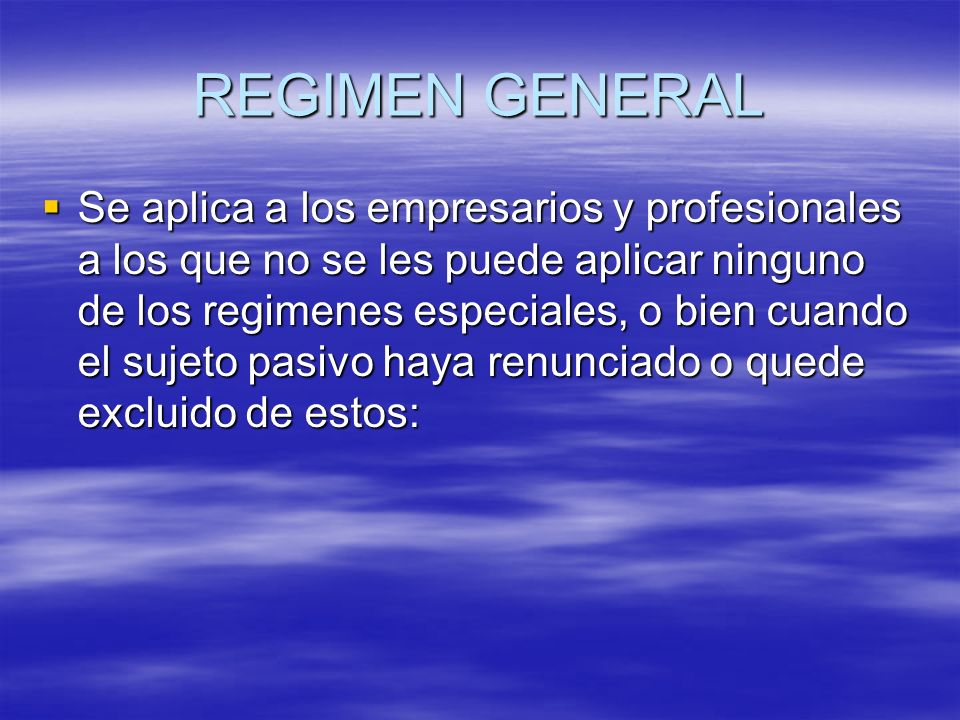 EJEMPLOS DE REGIMENES ESPECIALES REGIMEN SIMPLIFICADO.