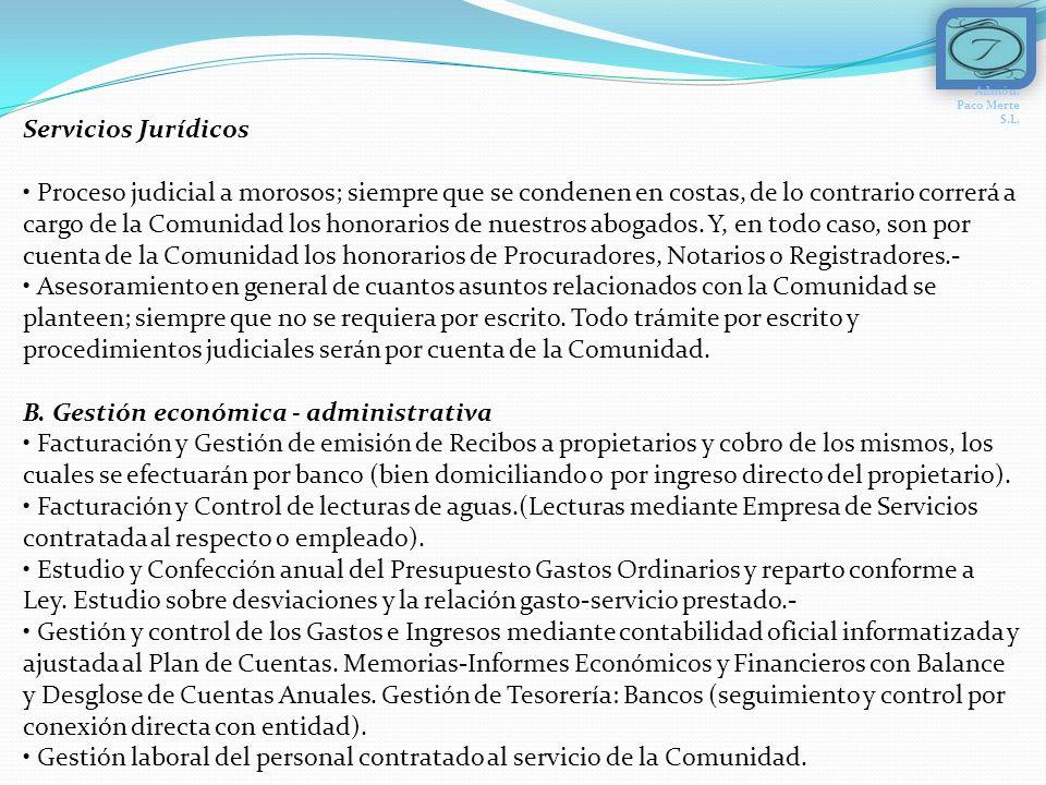C.Gestión de mantenimiento – conservación de inmuebles.