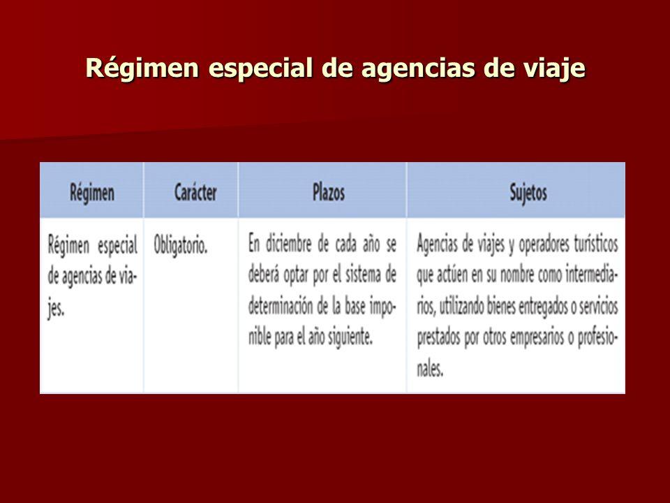 Régimen especial de agencias de viaje