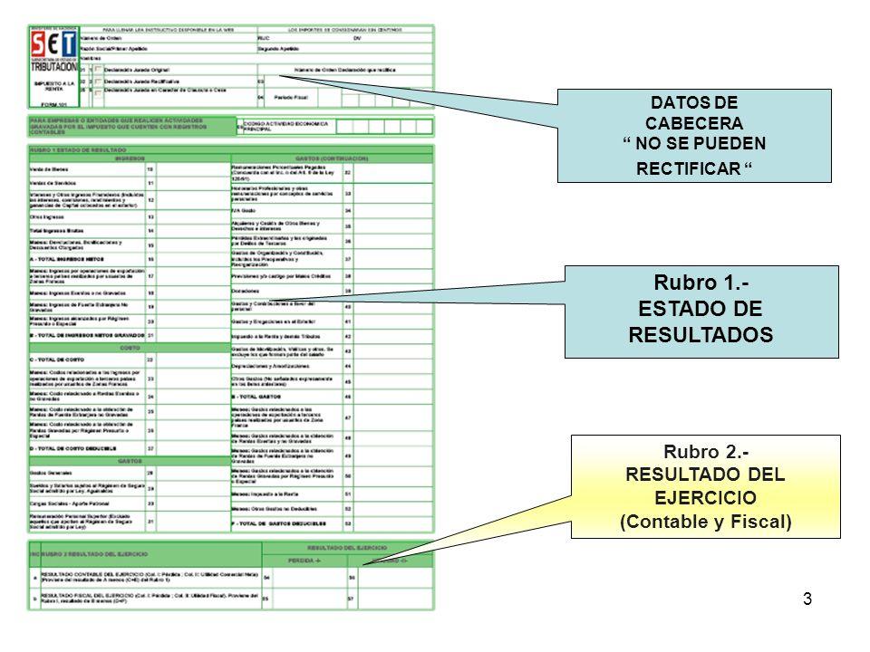 4 Rubro 4.-Determinación de la Base Imponible para quienes obtuvieron beneficios fiscales antes de la modificación del art.