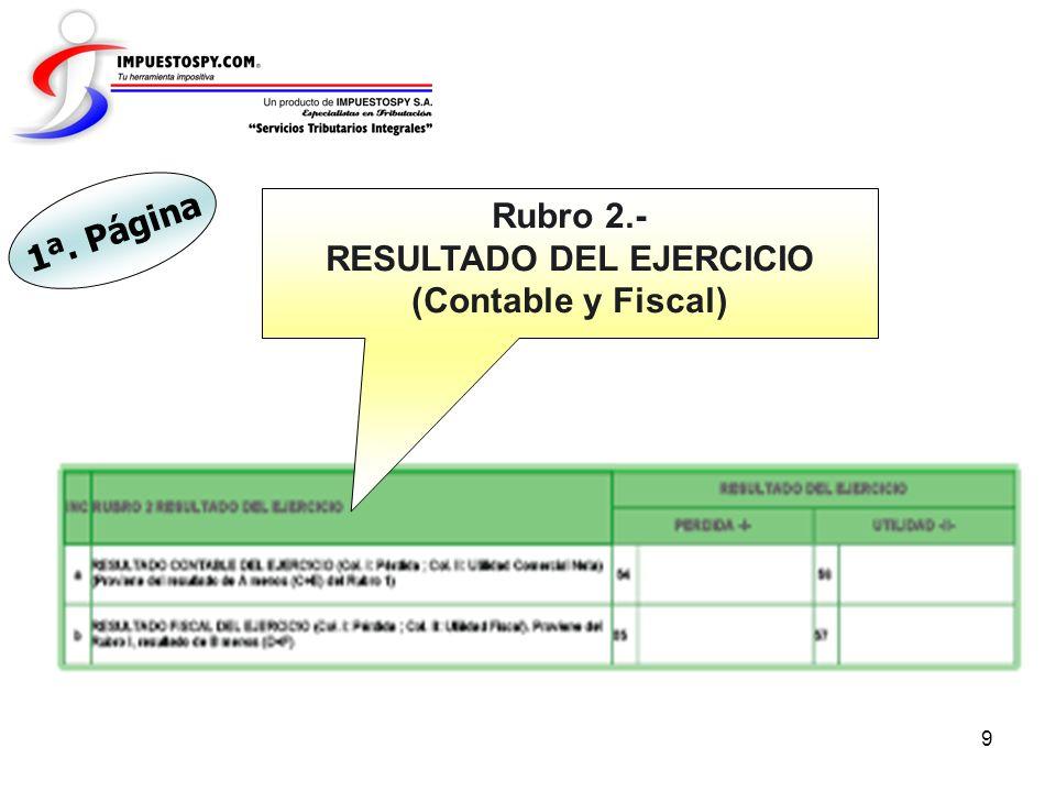 10 Rubro 3.- COMPENSACIÓN DE PÉRDIDAS DE EJERCICIOS ANTERIORES 2ª. Página