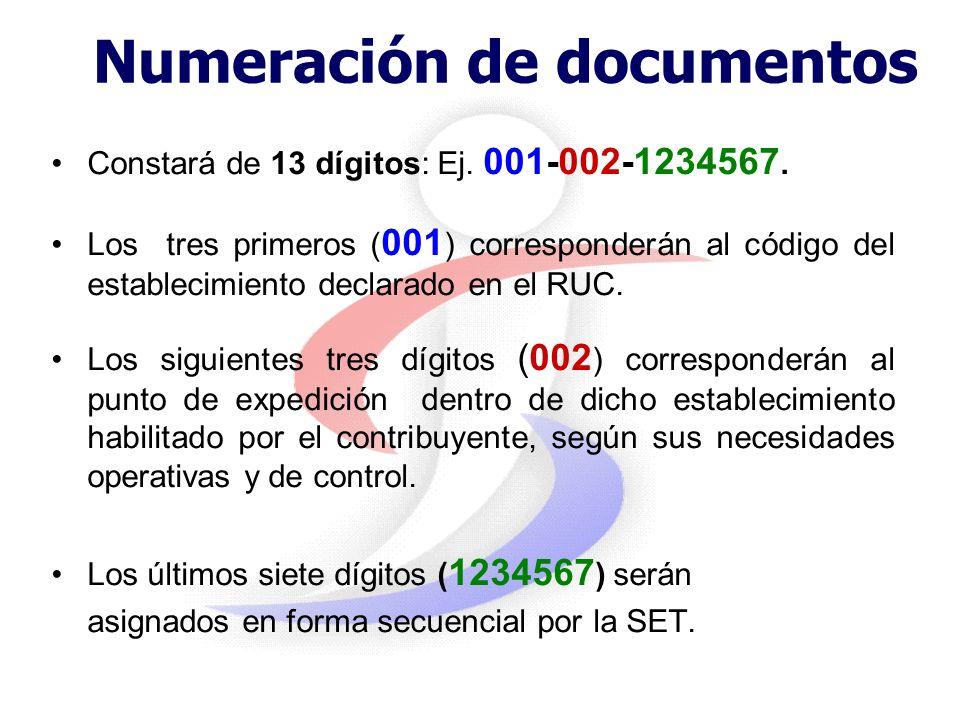 Autorizaciones Temporales La SET autorizará el uso temporal de documentos por: –cambios de datos en el RUC tales como domicilio. –utilización en lugar