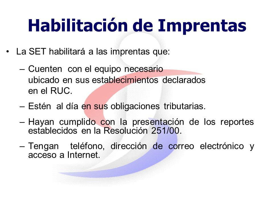 Cronograma de implantación 17 de julio: –Inicio de habilitación de imprentas 14 de agosto: –Inicio de la presentación de declaraciones de uso de máqui