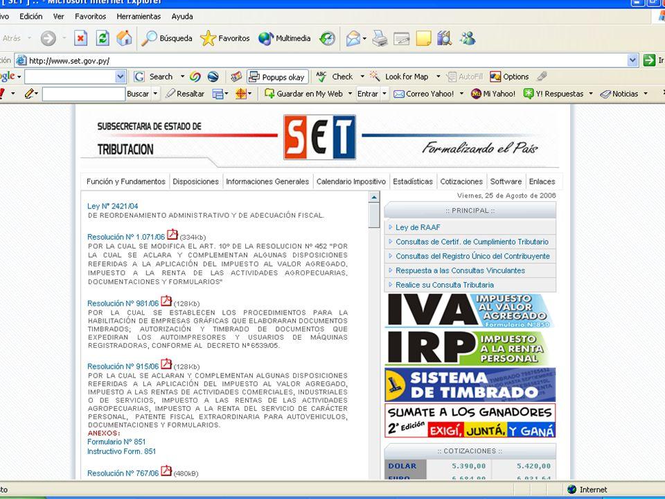 Sistema de Timbrado Entrega de claves de usuarios Desde el 17 de julio de 2006 se está entregando la clave de acceso a las imprentas. A partir del 1 d