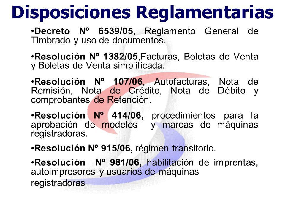 Art. 85 - Documentación: Todo comprobante de venta, así como los demás documentos que establezca la reglamentación deberá ser TIMBRADO por la Administ