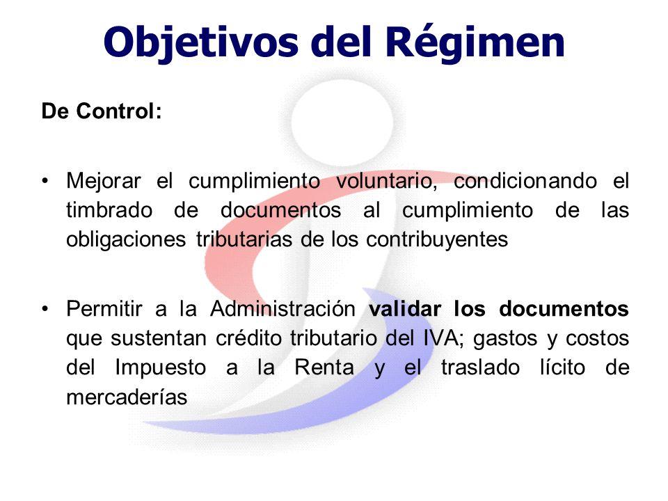 Objetivos del Régimen De servicio: Facilitar a los contribuyentes el cumplimiento de sus obligaciones, unificando y generalizando los comprobantes de
