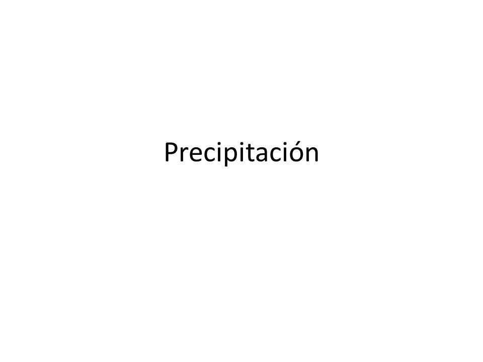 Se entiende por precipitación la caída de partículas líquidas o sólidas de agua.